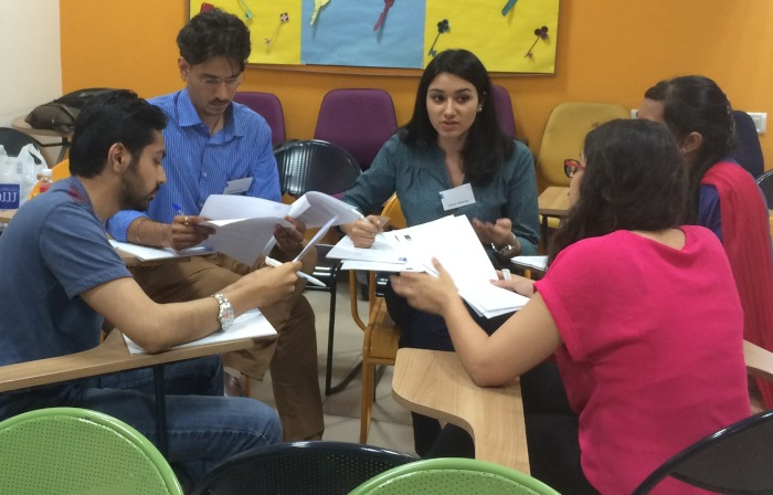 Students at the Pre-Masters Course in Delhi