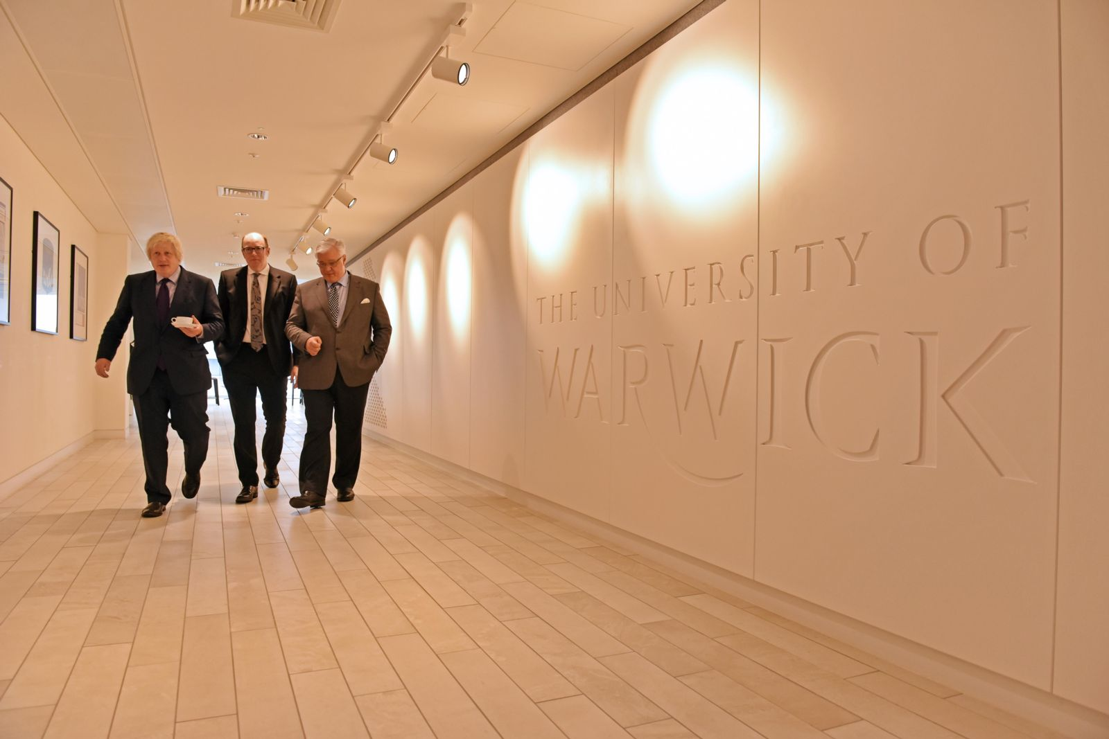 Boris Johnson, Mark Taylor, Nigel Thrift on a tour of WBS London