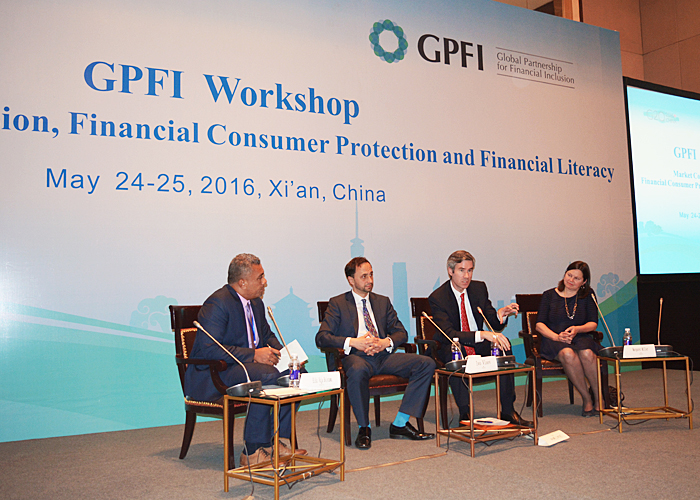Ivo Vlaev and other panelists at G20 event in Xi'an