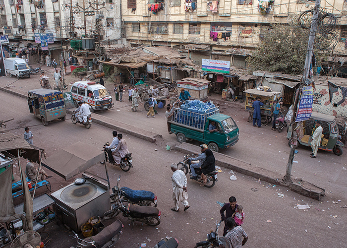 Picture of Karachi street
