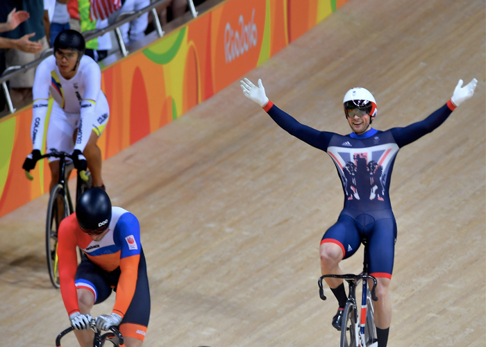 Cyclist winning at Rio