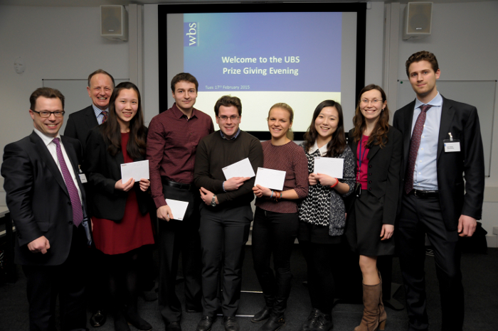 UBS competition prize winners