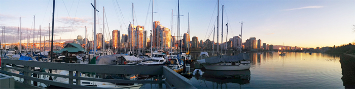 Panoramic Vancouver harbour picture