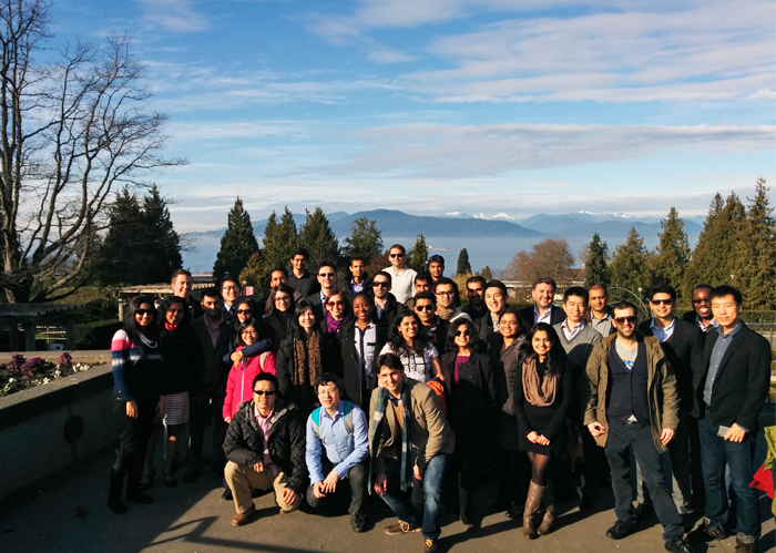 The full-time MBA cohort smile for the camera