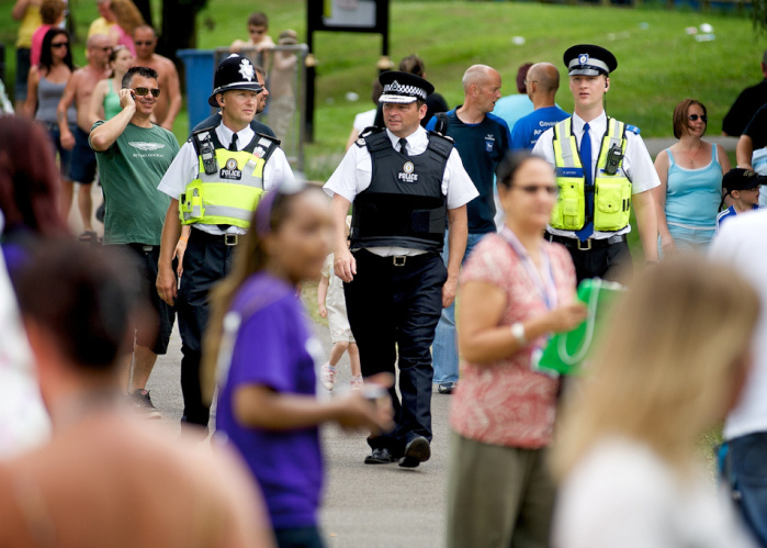 Police on patrol at Godiva festival in Coventry