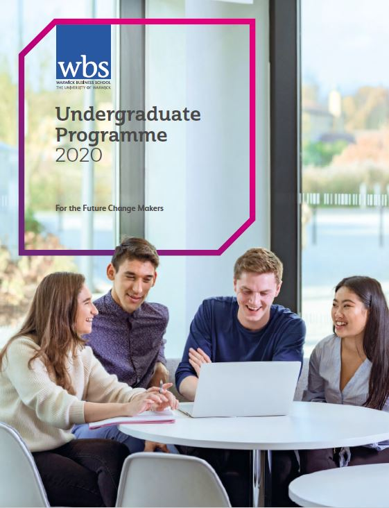 Warwick Business School's Undergraduate courses brochure