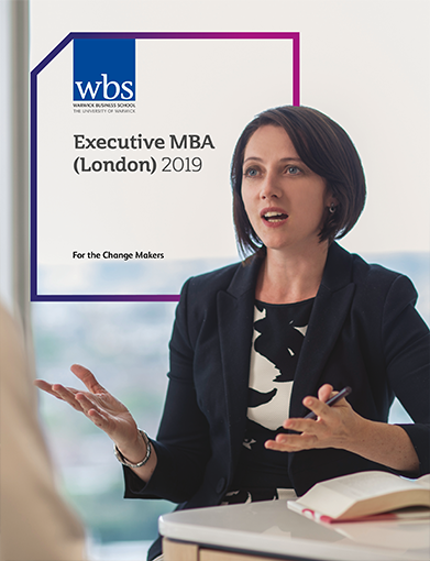 Warwick Business School's Executive MBA London brochure