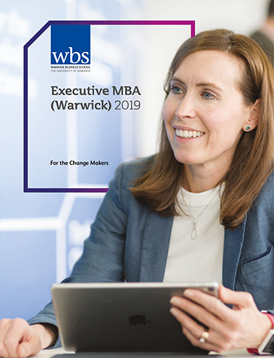 Warwick Business School's Executive MBA brochure