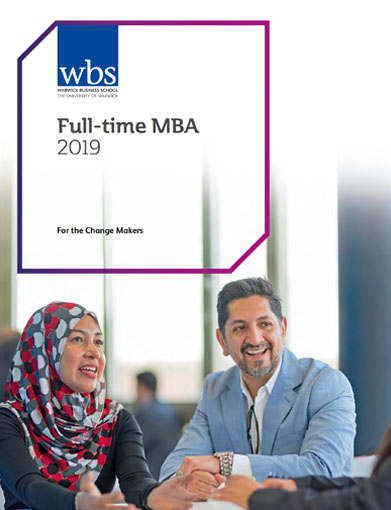 Warwick Business School's Full-time MBA brochure