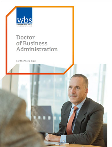 Warwick Business School's DBA brochure download