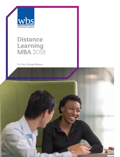 Warwick Business School's Distance learning MBA brochure