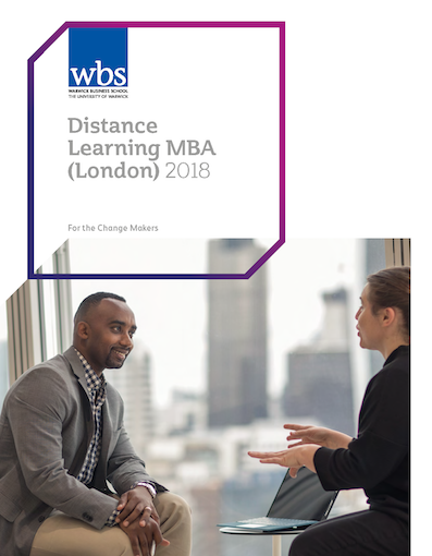 Warwick Business School's Distance learning MBA (London) brochure