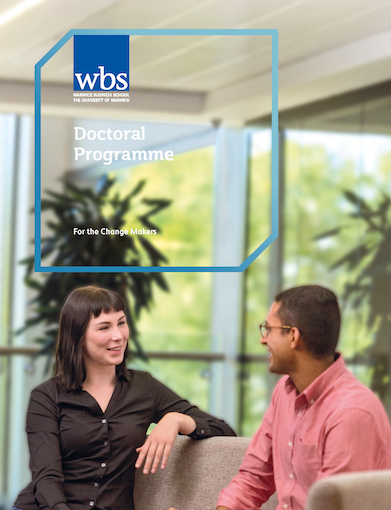 Warwick Business School's PhD brochure download