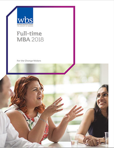 Warwick Business School's 2015 Full-time MBA brochure