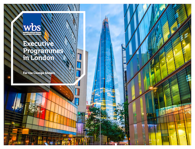 Warwick Business School's Executive Programmes in London brochure