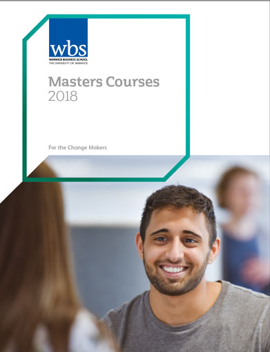 Warwick Business School's 2018 Postgraduate brochure