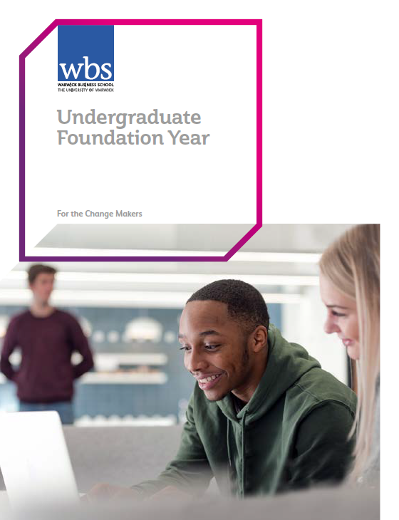 Warwick Business School's Foundation year leaflet