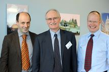Prof Guglielmo Meardi, Director of IRRU; Prof Paul Davies, Jesus College Oxford; Professorial Fellow Mark Hall, IRRU