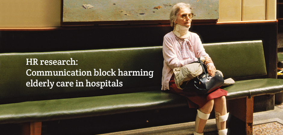 Elderly patients are enduring poor care in hospitals because of a communication block between the frontline and NHS management.