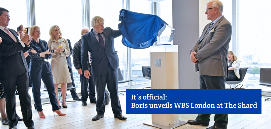 Mayor of London Boris Johnson has officially opened Warwick Business School's new base at The Shard.