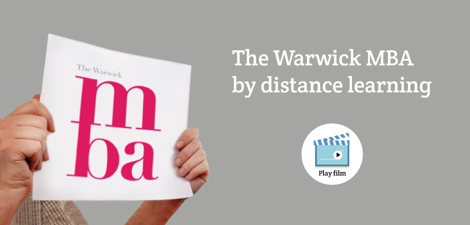 The Warwick MBA by distance learning, rated second in the world and UK's number 1. Watch our film