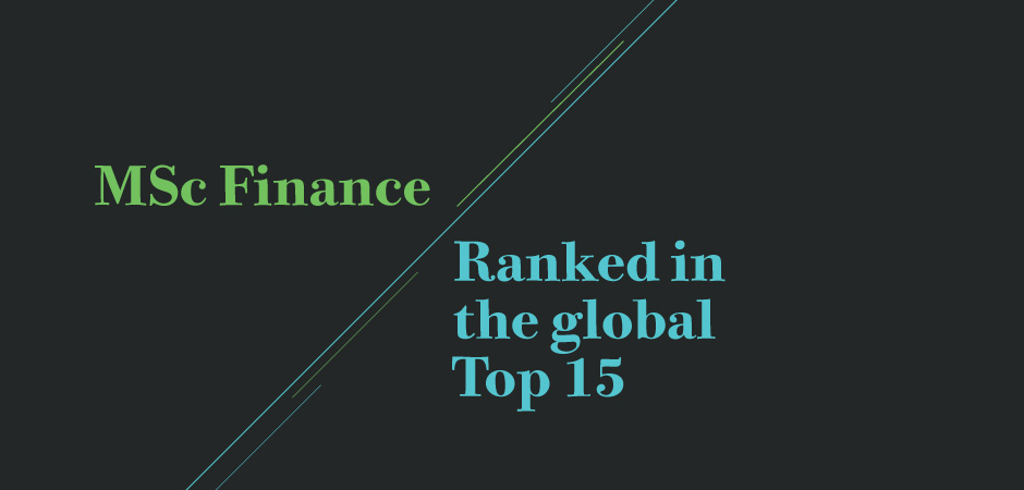 The Financial Times has ranked Warwick Business School's MSc Finance in the world's top 15