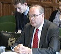 Andrew Sentance in front of the select committee