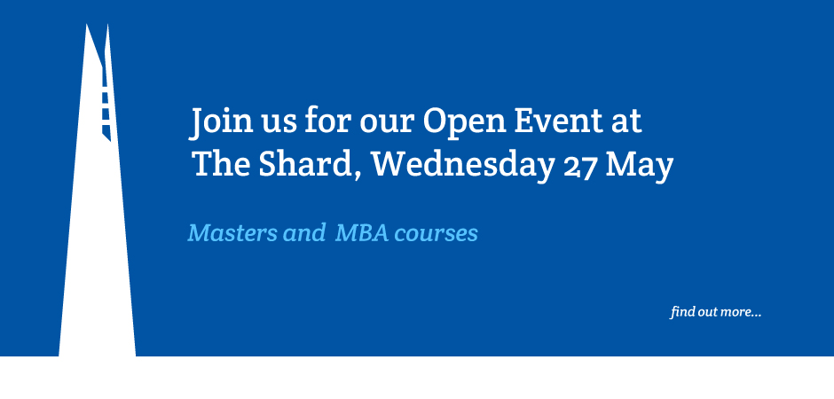 Join us at the Shard for our Open Event on Wednesday 27 May
