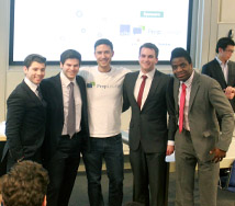 The Warwick team with the founder of PrepLounge