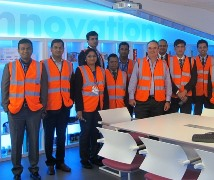 IIM-A MBA delegates visiting DCS Europe