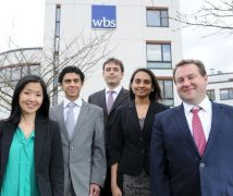 The WBS Hult team (l-r), Jane, Mohamed, Nikolay, Supriya and Adam