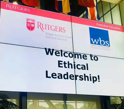 Visiting Rutgers Business School: The importance of ethics