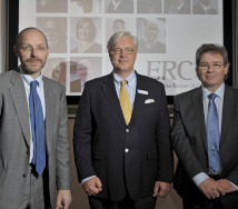 ERC Director Stephen Roper, WBS Dean Mark Taylor and ERC Assistant Director Mark Hart at the launch of the Enterprise Research Centre