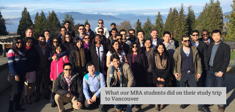 Our MBA students get to find out about doing business in another country with an all-expenses paid trip to Canada